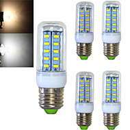 5 pcs Ding Yao E14 11W 36X SMD 5730 800-900LM 2800-3500/6000-6500K Warm White/Cool White Corn Bulbs AC 220-240V