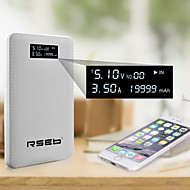 RSEB19999 mAh Accurate Display Power Bank for iPhone6/6 Plus/Samsung Note4/Sony/HTC and other Mobile Devices