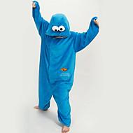 Kigurumi Pajamas New Cosplay® / Cartoon Leotard/Onesie Festival/Holiday Animal Sleepwear Halloween Blue Patchwork Polar Fleece Kigurumi