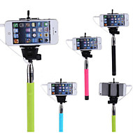 Pole Extendable Selfie Handheld Monopod Stick Holder for iPhone 5/5S/6 (Assorted Colors)