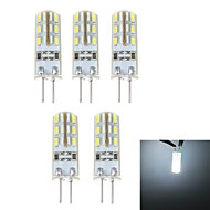G4 1.5 W 24 SMD 3014 100 LM Natural White Bi-pin Lights DC 12 V