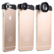 apexel 3-in-1 180 graden fish eye lens + 10x macro lens en 5x super telelens lens kit voor de iPhone 6 plus