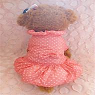 개 드레스 레드 / 블루 겨울 도트 무늬