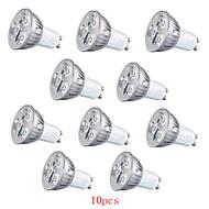Spot Décorative Blanc Chaud/Blanc Froid HRY 10 pièces PAR GU10 3 W LED Haute Puissance 260 LM AC 100-240 V