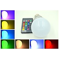 E26/E27 9 W 3 X High Power LED 240-300 LM  RGB/Color-Changing Remote-Controlled Globe Bulb AC 85-265 V