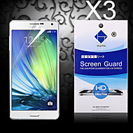 HD Screen Protector with Dust-Absorber for Samsung Galaxy A3 (3 PCS)