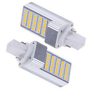 Lampes à Deux broches Blanc Chaud/Blanc Froid Ding Yao 2 pièces G24 5 W 25 SMD 5050 600-700 LM AC 85-265 V