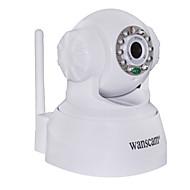 Wanscam® Câmera de Monitoramento IP com Controle de Ângulo e Sensor de Movimento (IR Visão Notura, DDNS)