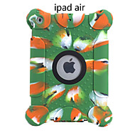 Environmental Silicone Soft Pure Color Loudspeaking Shockproof Full Body Cover Case For Apple iPad Air/5 9.7 Inch
