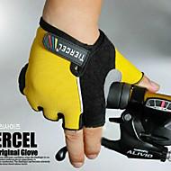 Nylon resistente Finger Gloves Mezza elastici 3D Design Per Ciclismo Bicicletta (colori assortiti, dimensione media)