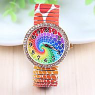 Xu™ 아가씨들 패션 시계 모조 다이아몬드 시계 석영 스테인레스 스틸 밴드 멀티컬러