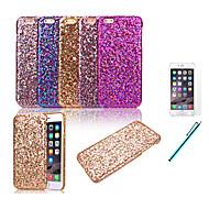 For iPhone 6 etui / iPhone 6 Plus etui Stødsikker Etui Bagcover Etui Glitterskin Hårdt PC iPhone 6s Plus/6 Plus / iPhone 6s/6