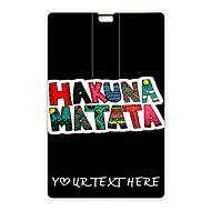 usb flash drive personalizado Hakuna matata flash drive 32gb design de cartão usb