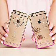 modni ultra tanki dijamantni oplata svijetle plastični pokrov za iPhone 6 (ponekog bojama)