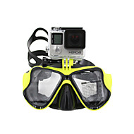GOPRO Adult Diving Masks One-Window PVC Frame/Silicone Stripe Tempered Glass
