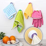 ontworpen zelfklevende doek houder handdoek haak keuken (willekeurige kleur)