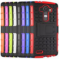 Mert LG tok Ütésálló / Állvánnyal Case Hátlap Case Páncél Kemény PC LGLG G4 / LG G4 Stylus / LS770 / LG G3 / LG G26 / LG L90 / LG L70 /