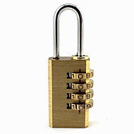 cuivre de manière convenable bagages / sac verrouiller avec 4 passe