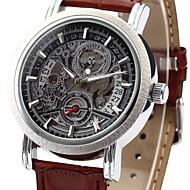 WINNER® Men's Auto-Mechanical Skeleton Watch PU Leather Band Wrist Watch Cool Watch Unique Watch