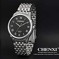 CHENXI® 男性 リストウォッチ クォーツ 日本産クォーツ ステンレス バンド シルバー