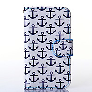 Varten Samsung Galaxy kotelo kotelot kuoret Korttikotelo Lomapkko Tuella Flip Kokonaan peittävä Etui Ankkuri Tekonahka varten SamsungS5