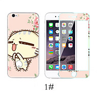 Cartoon Toughened Glass Film for iPhone 6