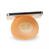 Cute Egg Yolk with Smile Shaped Universal Silicone Stand for iPhone 4/4S/5/5S/5C/6/6 Plus(Assorted Color)