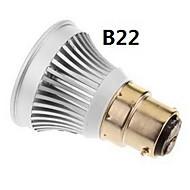 e2627 / gu5.3 / B22 / E14 קלח 3W 270-300lm 6000-6500k אור מגניב / חם לבן הוביל הנורה מקום (85-265v)