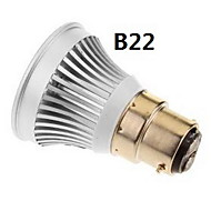 e2627 / GU5.3 / B22 / E14 3w cob 270-300LM 6000-6500k cool / warmes weißes Licht LED Spot Lampe (85-265V)
