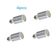 4pcs MORSEN® E27 10W 60X5050SMD 600LM Light LED Corn Bulb (220V)