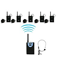2,4 g digital trådløs tour guide / oversættelse (1 sender 5 modtager)
