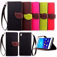 hoge kwaliteit portemonnee kaarthouder pu lederen flip case hoes voor de Sony Xperia z4 / Z3 / Z3 mini / e3 / e4 (verschillende kleuren)