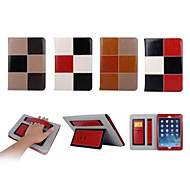 "9.7""Inch Color Matching Pattern Luxury Genuine Leather Wallet Case with Stand for iPad Air iPad 5(Assorted Colors)"