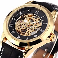 SHENHUA® Men's Classic Skeleton Roman Dial  Leather Band Automatic Self Wind Wrist Watch Cool Watch Unique Watch