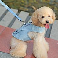 Arreios - Azul - de Téxtil - Retratável - Cães