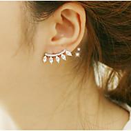 ドロップイヤリング クリスタル 高級ジュエリー キュービックジルコニア 模造ダイヤモンド 合金 ゴールド ジュエリー のために 2 個