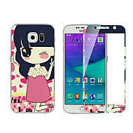 Explosion-Proof -Toughened Membrane Transparent Anti-Shock Pasted color-membrane for Samsung Galaxy S6