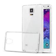 Para Samsung Galaxy Note Transparente Capinha Capa Traseira Capinha Cor Única TPU Samsung Note 4