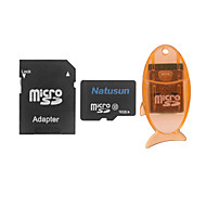 clase 16gb natusun 10 microSDHC tarjeta de memoria tf con lector de tarjetas USB y adaptador sd sdhc