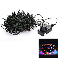 24V 30M 200-LED 8-Mode RGB Light Wedding Christmas Party Decoration String Light - Deep Green (EU Plug)
