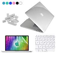 """Enkay 4 in 1 kristalli suojakotelo + näyttö suojelija + näppäimistö elokuva + anti-pöly liittimet MacBook Pro retina 15.4 """""""