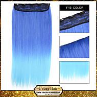 1pc / lot 110g Clip innen auf geraden Haarverlängerung synthetische f13