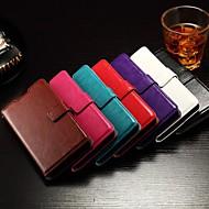klepje ondersteuning kaartslot fotolijst vette leer eenvoudige pu mobiele telefoon shell voor hua wei eer 7 verschillende kleuren