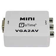 oTime OT-M625 PC TO TV VGA TO AV VGA TO RCA with Audio-White