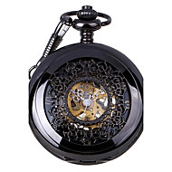 Men's Retro Hollow Out Mechanical Pocket Watch Brand New Mechanical Hand Wind Watches Cool Watch Unique Watch