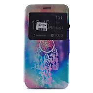 Mert Samsung Galaxy Note Kártyatartó / Állvánnyal / Betekintő ablakkal / Flip / Minta Case Teljes védelem Case Álomvadász Puha Műbőr