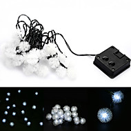 4.8M 20-LED Snowball Style Solar LED String Light