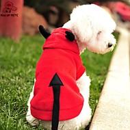 고양이 개 코스츔 후드 레드 강아지 의류 겨울 모든계절/가을 뱀파이어 귀여운 코스프레 할로윈