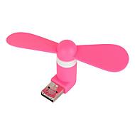 bærbar mini fleksible usb drevet eller mobiltelefon micro-USB-drevet vifte (assortert farge)