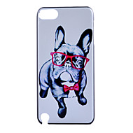 eye hond patroon frosted pc materiaal telefoon casefor ipod touch 5